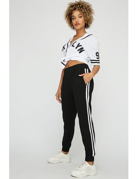Pull On Side Stripe Jogger by Urban Planet