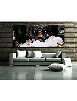#14 Poster Mural Scarface Mob Gangster 40x94 Inch (100x240 Cm) Adhesive Vinyl by Sdk Mural