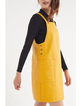 Bdg Faux Leather Pinafore Dress by Bdg