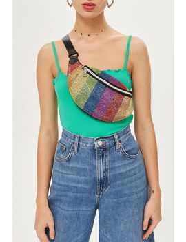 Rainbow Beaded Bumbag by Topshop