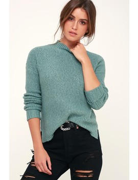 Pine Sage Green Knit Sweater by Olive + Oak