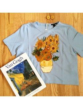 Van Gogh Sunflower Blouse by That Art History Girl