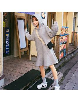 Chuu   Ruffle Hem Hoodie Dress by Chuu