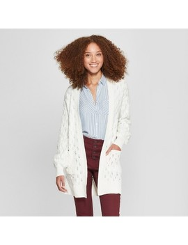 Women's Pointelle Open Cardigan Sweater   A New Day™ by A New Day™