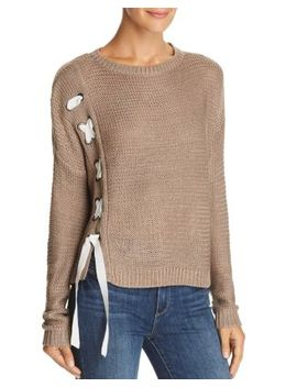 Lace Up Side Sweater   100 Percents Exclusive by Aqua