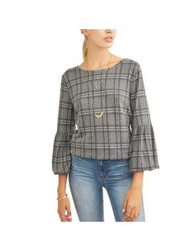 Women's Super Soft Long Bubble Sleeve T Shirt by Como Blu
