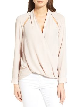 Cutout Surplice Top by Nordstrom