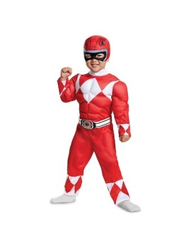 Toddler Kids' Power Rangers Red Ranger Muscle Halloween Costume by Power Rangers