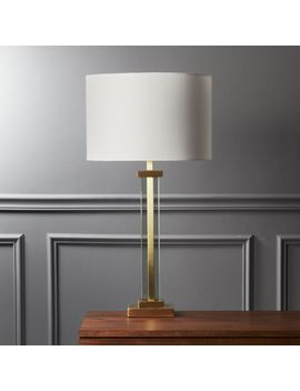 Panes Glass And Brass Table Lamp by Crate&Barrel