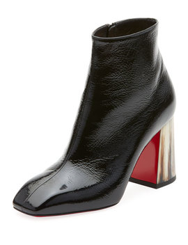 Hilconico Vintage Shiny Red Sole Booties by Christian Louboutin