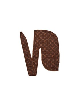 "Designer Du Rags ""Monogram"" Brown 100 Percents Polyester by Epic Rags"