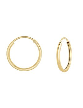 14k Yellow Gold Endless Hoop Earrings, Sleeper Earrings, Nose And Cartilage Jewelry  (10mm, 12mm, 14mm, 16mm, 18mm, 20mm) by Tilo Jewelry