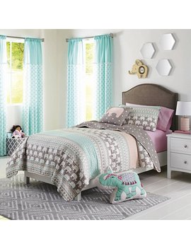 Better Homes And Gardens Kids Elephant Stripe Bedding Quilt Set by Better Homes & Gardens