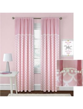 Better Homes And Gardens Scallops With Poms Curtain Panel by Better Homes & Gardens