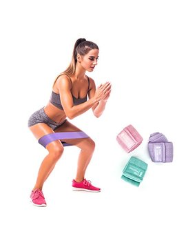 Booty Resistance Workout Fabric Non Slip Hip Bands, Set Of 3, Perfect For Squats, Butt, Thigh And Hip Workout. Loop, Soft Cloth Resistance Booty Bands. Full Exercise Guide Included by Core Fitness Usa