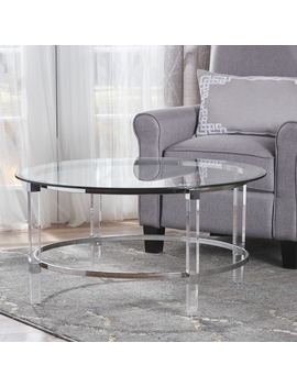 Elowen Round Rectangle Glass Coffee Table By Christopher Knight Home by Christopher Knight Home