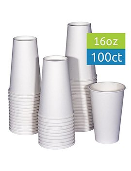 Tashi Box 16 Oz White Hot Drink Paper Cups   100 Count   Coffee, Tea, Hot Cocoa by Tashi Box