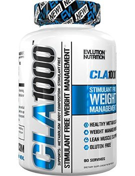 Evlution Nutrition Cla 1000 Conjugated Linoleic Acid, 90 Serving Soft Gel, Weight Loss Supplement, Stimulant Free by Evlution