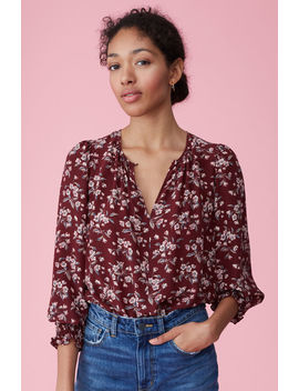 Tilda Floral Silk Top by Rebecca Taylor