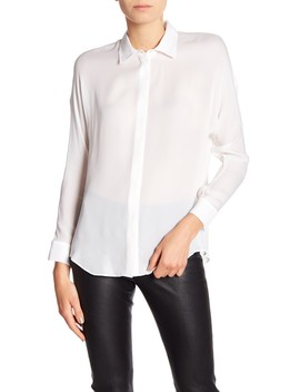 Button Down Hi Lo Blouse by Vince