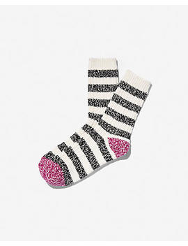 Stripe Color Block Heel Bootie Socks by Express