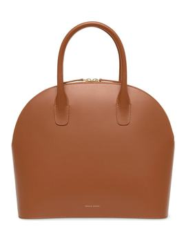 Top Handle Rounded Leather Bag by Nordstrom
