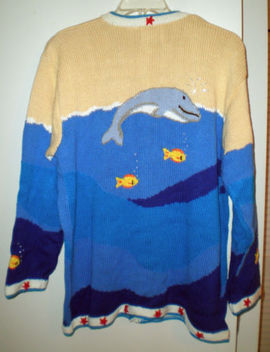 Hsn   Storybook Knits    Whales Sweater     Size 1 X   New With Tag by Storybook Knits