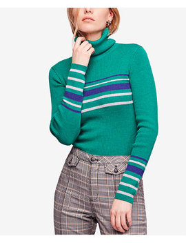 Aspen Striped Ribbed Turtleneck by Free People