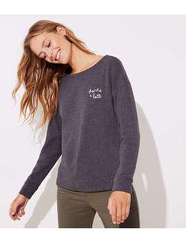 Thanks A Latte Sweatshirt by Loft