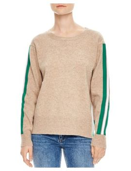 Amour Striped Sleeve Sweater by Sandro