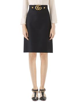 Marmont Wool & Silk Cady Crepe A Line Skirt by Nordstrom