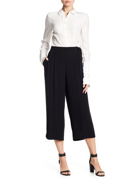 Belted Crepe Culottes by Vince