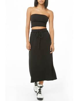 French Terry Maxi Skirt by Forever 21