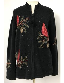 Heirloom Collectibles 2004 Sweater Cardigan Sz M Cardinals Holiday Christmas by Ebay Seller