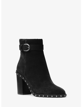 Livvy Suede Ankle Boot by Michael Michael Kors