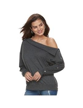 Women's Jennifer Lopez Embellished One Shoulder Sweatshirt by Kohl's