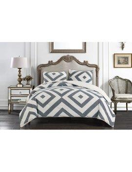 Better Homes & Gardens Grey Diamond Link Comforter Set, King by Better Homes & Gardens