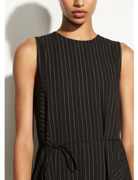 Bar Stripe Paneled Dress by Vince