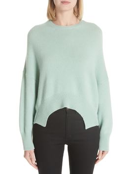 Curve Hem Crop Cashmere Sweater by Nordstrom