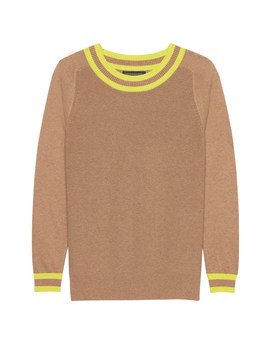 Cotton Blend Crew Neck Sweater by Banana Repbulic