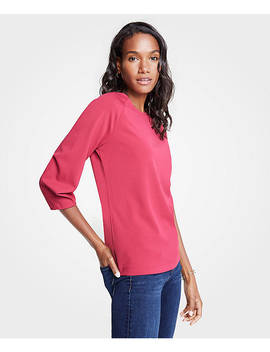 Curved Sleeve Top by Ann Taylor