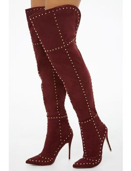 Mackin J Studded Over The Knee Boots by Forever 21