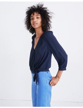 Wrap Top In Deep Indigo by Madewell