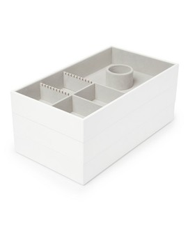 Avante Accessory Trays 3 Set White   Loft By Umbra™ by Loft By Umbra