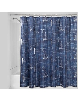 Inter Design® Sailboat Shower Curtain In Navy by Bed Bath And Beyond