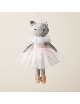 Erika Barratt Cat Ballerina Ornament by West Elm