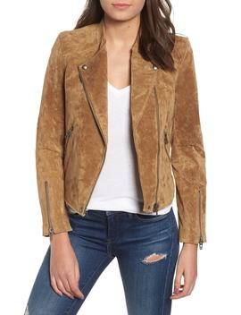 No Limit Suede Moto Jacket by Nordstrom