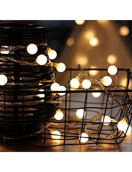Led String Lights, By My Cozy Lite, Plug In String Lights, 49 Ft 100 Led Warm White Globe Lights With Timer, Waterproof, Perfect For Indoor And Outdoor Use With 30 V Low Voltage Transformer, Extendable by Louis Choice