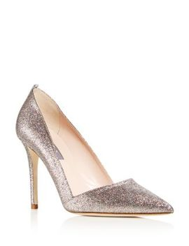 Women's Rampling Glitter Pointed Toe Pumps   100 Percents Exclusive by Sjp By Sarah Jessica Parker