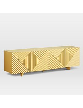 "Rosanna Ceravolo Media Console (68"")   Yellow by West Elm"